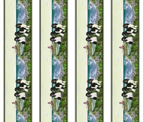 Newfoundland border seascape fabric by dogdaze_ on Spoonflower - custom fabric