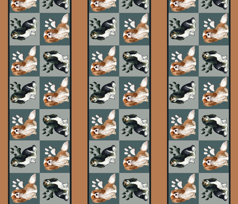 Cavalier Spaniel Wallpaper Border or fabric fabric by dogdaze_ on Spoonflower - custom fabric
