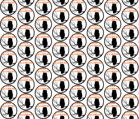 Happy Halloween fabric by leahvanlutz on Spoonflower - custom fabric