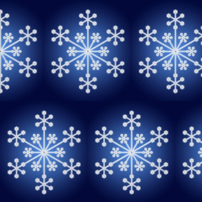 Icy Snowflake on Blue Gradient