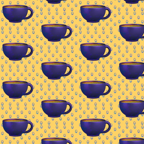 happy espress cup fabric by dreamskyart on Spoonflower - custom fabric