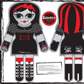 Zombie Cut and Sew Doll