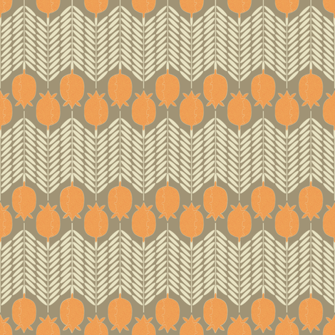 Armadillo Poppy Chevron fabric by maplewooddesignstudio on Spoonflower - custom fabric