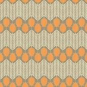 Armadillo Poppy Chevron