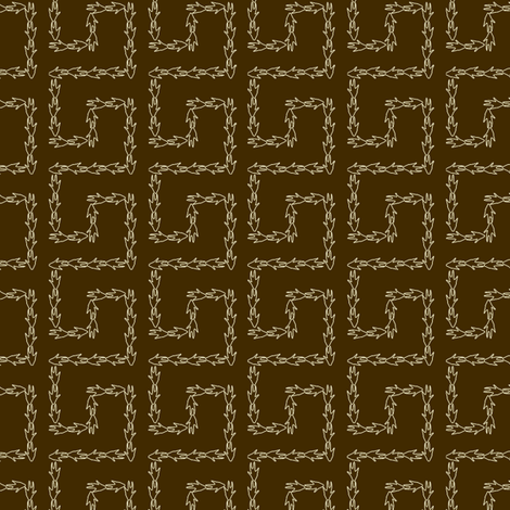 Armadillo Greek Key - Brown fabric by maplewooddesignstudio on Spoonflower - custom fabric