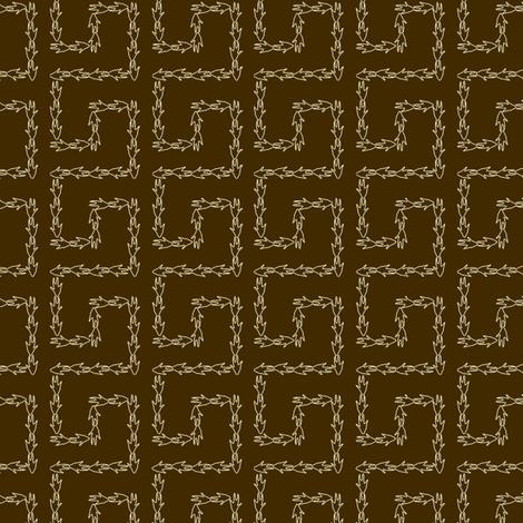 Armadillo Greek Key - Brown fabric by maplewooddesignstudio on Spoonflower - custom fabric
