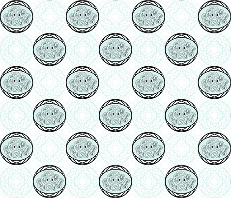 Octopus encircled-ed fabric by faefall on Spoonflower - custom fabric