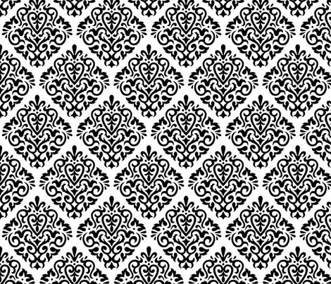 Diamond Black on White fabric by mariafaithgarcia on Spoonflower - custom fabric