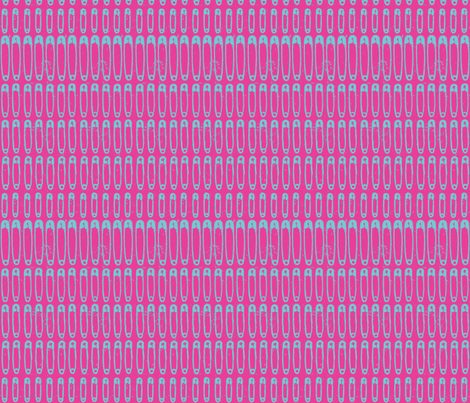 safety pin blue and pink fabric by atomic_bloom on Spoonflower - custom fabric