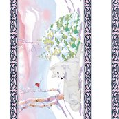 Samoyed_winter_scene_wallpaper_borderupload_shop_thumb