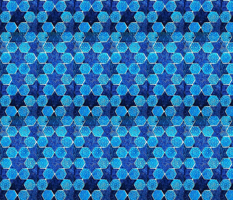 Star of David fabric by flyingfish on Spoonflower - custom fabric