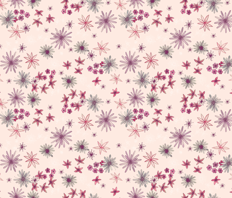 Watercolor Flowers fabric by kimsa on Spoonflower - custom fabric