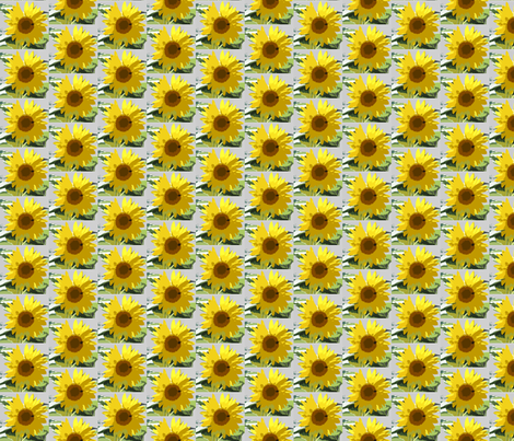 garden_sunflower fabric by bosun on Spoonflower - custom fabric