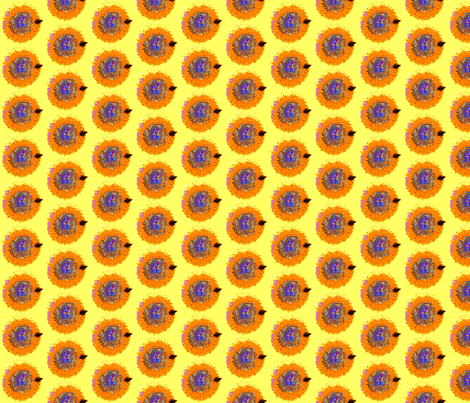 orange_sunflower_center fabric by bosun on Spoonflower - custom fabric