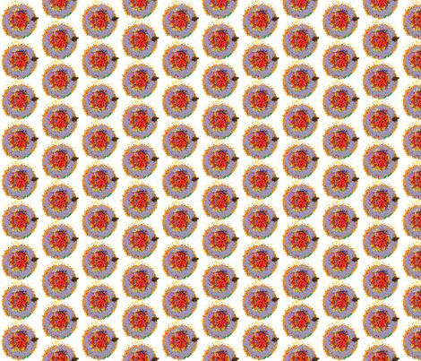 periwinkle_sunflower_center fabric by bosun on Spoonflower - custom fabric