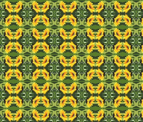 side_sunflower fabric by bosun on Spoonflower - custom fabric