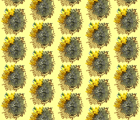 sunflower_swirl_shadows fabric by bosun on Spoonflower - custom fabric