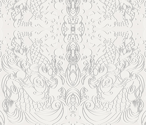 Pisces  fabric by whimzwhirled on Spoonflower - custom fabric