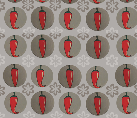 hot red peppers fabric by feltnlove_ on Spoonflower - custom fabric