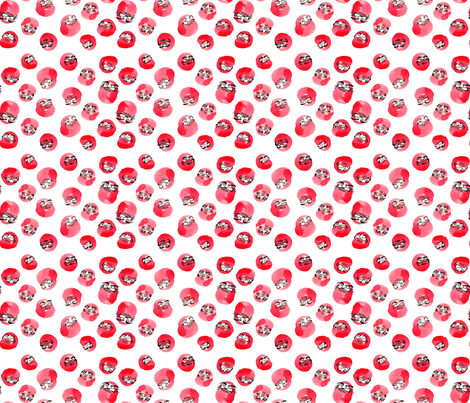 Tumbling Daruma Pattern fabric by shiro on Spoonflower - custom fabric