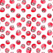 Tumbling Daruma Pattern