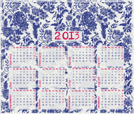 2013_calendar fabric by leitmotifs on Spoonflower - custom fabric