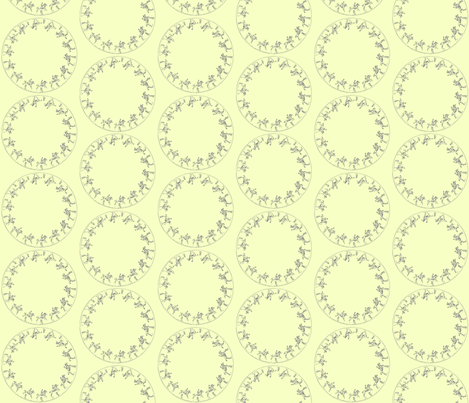 circlehorseyellow fabric by ragan on Spoonflower - custom fabric
