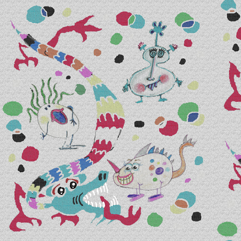Monster Mish-Mash Lite fabric by amy_g on Spoonflower - custom fabric