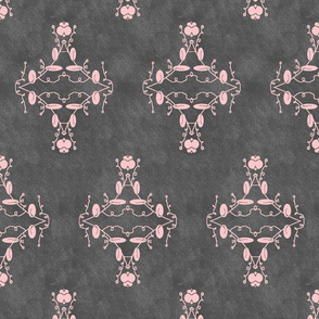 Gray and Pink Grunge Damask