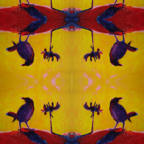 Sunset Ravens fabric by dreamskyart on Spoonflower - custom fabric