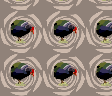 Big Takahe Bird fabric by featheralchemist on Spoonflower - custom fabric