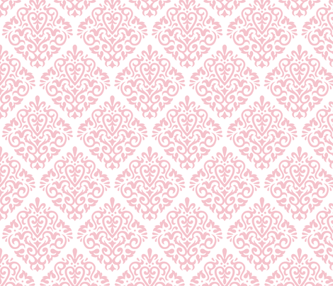 pink on white fabric by mariafaithgarcia on Spoonflower - custom fabric
