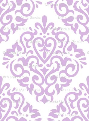 lavendar on white