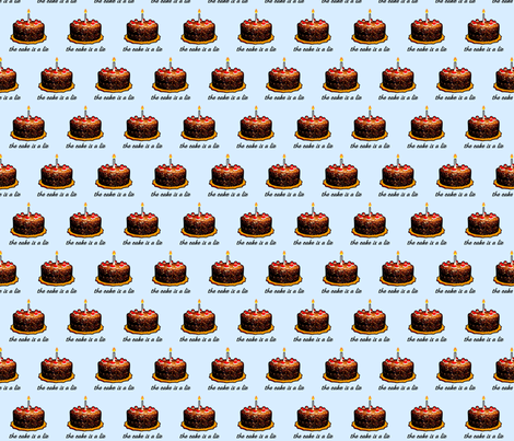 LieCake fabric by gofarflyhigh on Spoonflower - custom fabric