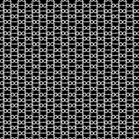 Bitty Bits - black and white fabric by ragan on Spoonflower - custom fabric