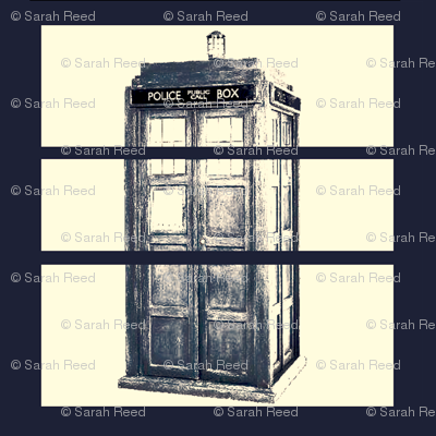 Blue Science Fiction Police Box