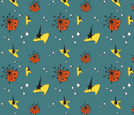 mid century mod space fabric by maryellenmouse on Spoonflower - custom fabric