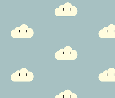 Nintendo Cloud fabric by featheralchemist on Spoonflower - custom fabric