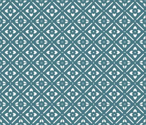 Blue fabric by tulsa_gal on Spoonflower - custom fabric