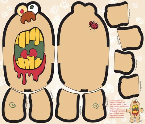 Zombie Plush Monster fabric by emily_caraballo on Spoonflower - custom fabric