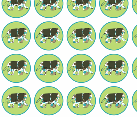 Animal Trails Elephant Decal Lime fabric by designedtoat on Spoonflower - custom fabric