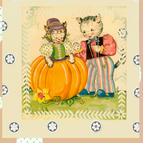 Two Pumpkins fabric by laurabotsford on Spoonflower - custom fabric