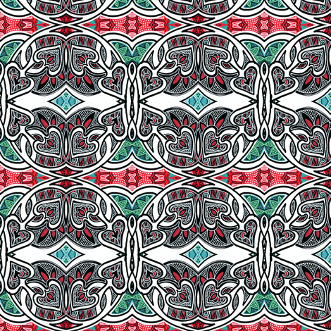 Art Nouveau Country Style fabric by edsel2084 on Spoonflower - custom fabric