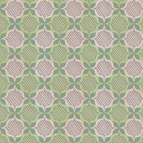 trellis medallions 3 fabric by glimmericks on Spoonflower - custom fabric