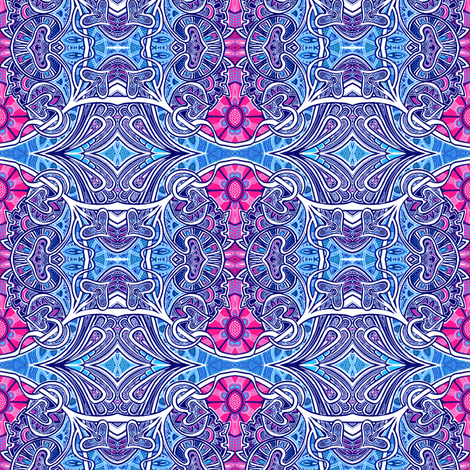 Nouveau Trippy Hippie fabric by edsel2084 on Spoonflower - custom fabric