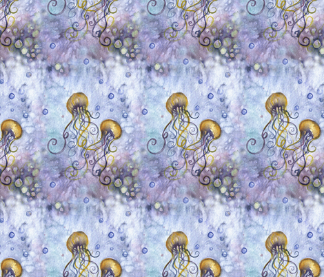 Twin Jellies fabric by riverwalker_arts on Spoonflower - custom fabric