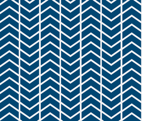 chevron navy and white fabric by ninaribena on Spoonflower - custom fabric