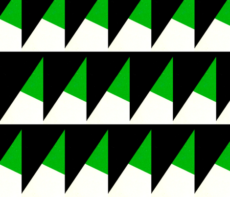 Goeverneur Green & Black fabric by stoflab on Spoonflower - custom fabric