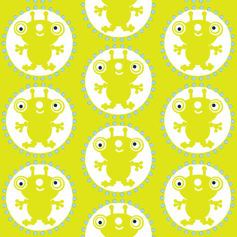 A lime green Bugg-i-boo fabric by paragonstudios on Spoonflower - custom fabric