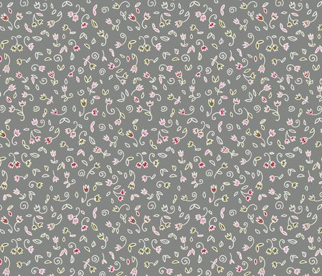 Mini Flowers  fabric by polina_vaschenko on Spoonflower - custom fabric